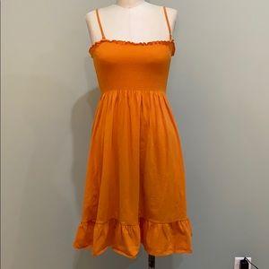 Ann Taylor loft women's orange sun dress